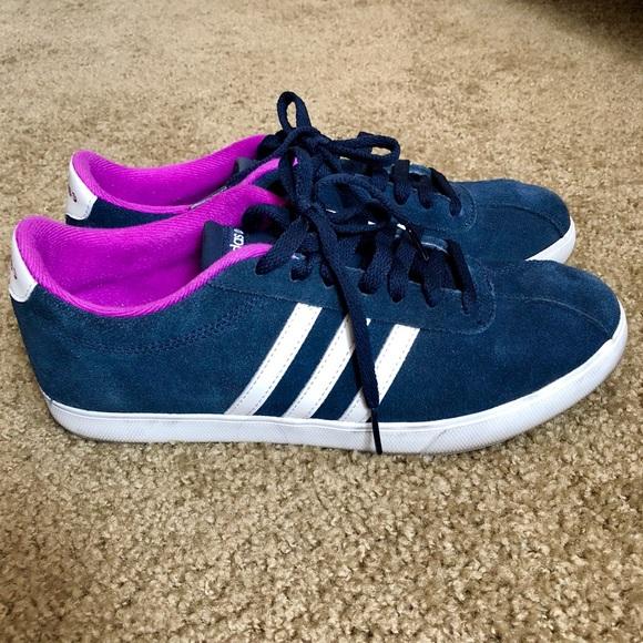 quality design 1c62d e7494 adidas Shoes - Adidas NEO Courtset Blue Purple Suede Sneakers. 9